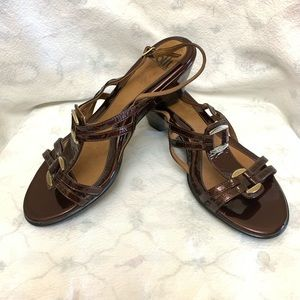 EUC Sofft Leather Ankle Strap Sandals Sz 7.5M